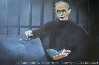 Painting of St. Max Kolbe